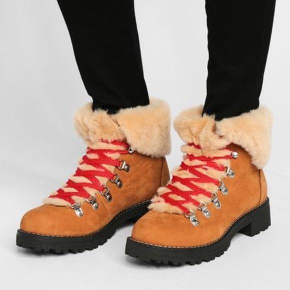 9e739218789 J. Crew Nordic Pecan Glaze Hiking Boots Sz 7 NWT